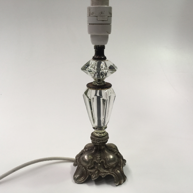 LAM0657 LAMP, Base (Table) - Small Cut Glass and Brass $12.50