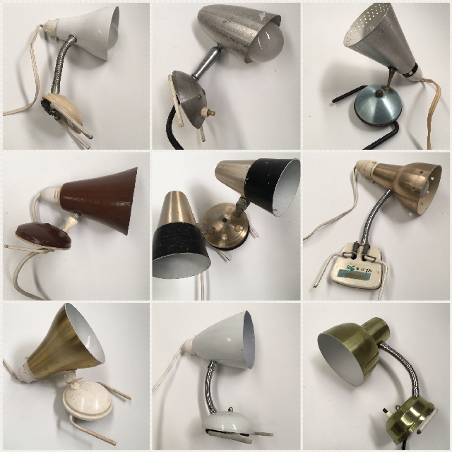 Assorted 1950s, 60s and 70s Clip-On Bedside Lights