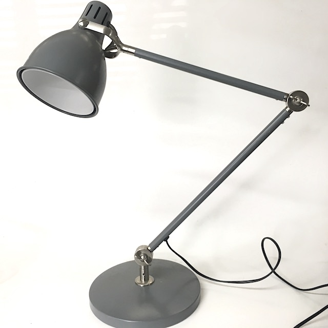 LAM0498 LAMP, Desk Light - Planet Style, Grey Industrial $15