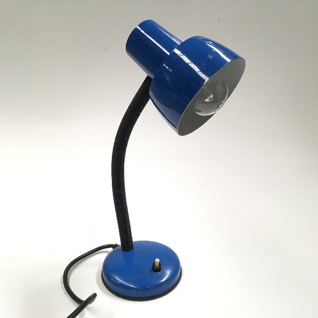 LAM0477 LAMP, Desk or Bedside Light - Small Blue $7.50