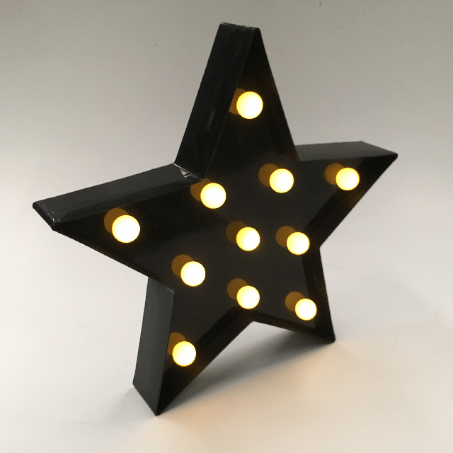 LAM0702 LAMP, Novelty Lamp - Black Star Marquee $7.50