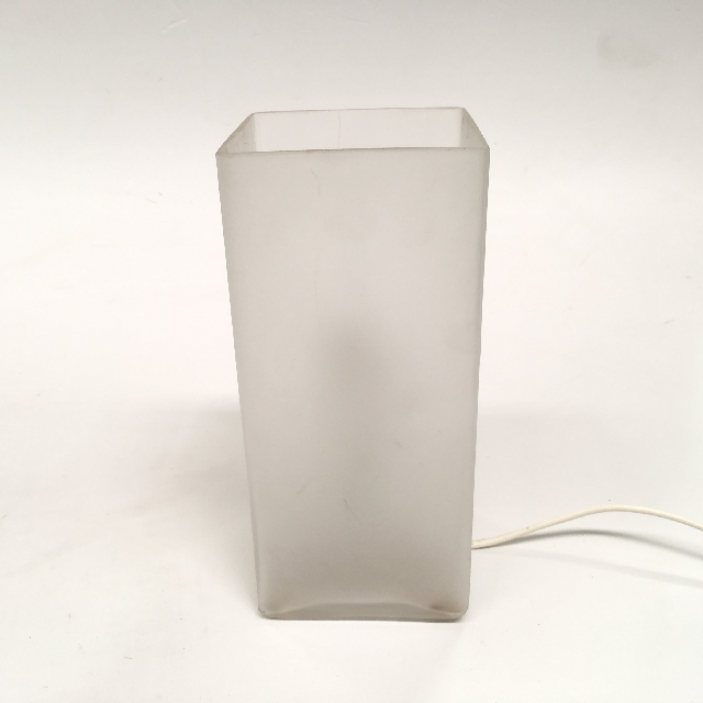 LAM0491 LAMP, Table Lamp - Glass, White Frosted Square $6.25