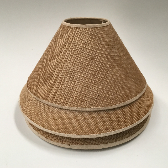 LAM0953 LAMPSHADE, Cone - Natural Hessian Weave Assorted $7.50