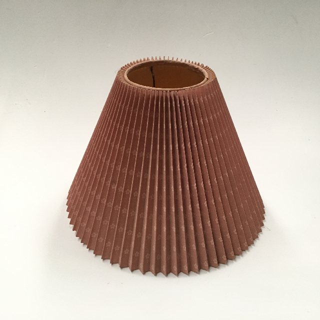 LAM0962 LAMPSHADE, Cone (Small) -  Pink Pleated $6.25