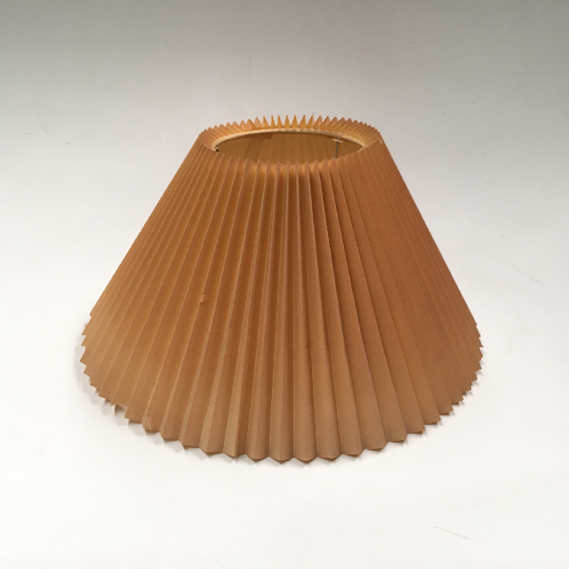 LAM0964 LAMPSHADE, Cone (Small) - Aged Pleated Wax Paper $10