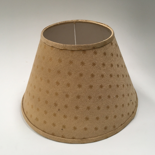 LAM0966 LAMPSHADE, Cone (Small) - Beige Brown Star Design $7.50