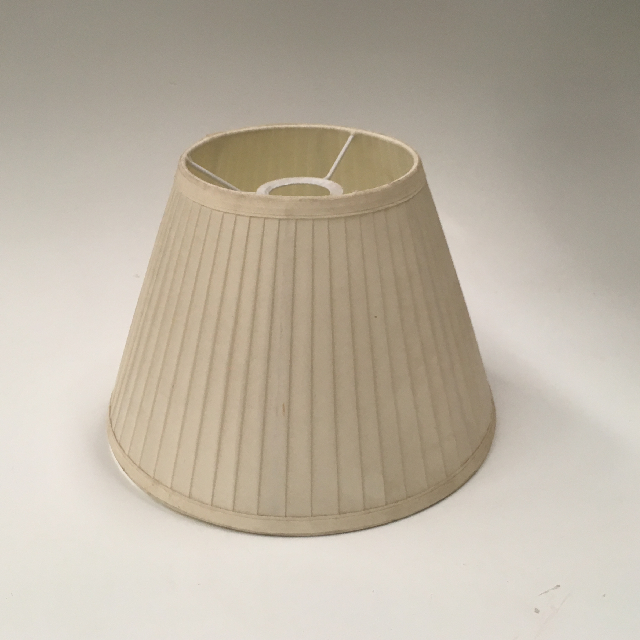 LAM0975 LAMPSHADE, Cone (Small) - Natural Cream Pleated $6.25