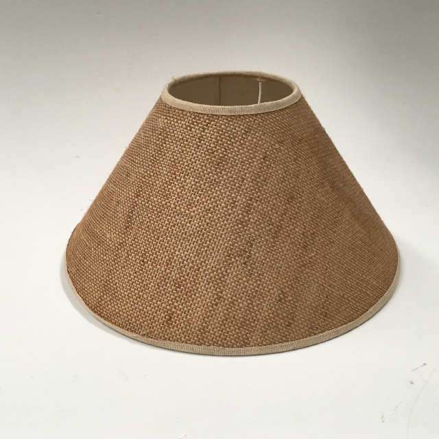 LAM0977 LAMPSHADE, Cone (Small) - Natural Hessian Weave $7.50