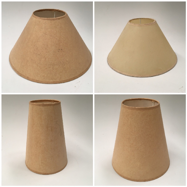 LAM0980 LAMPSHADE, Cone (Small) - Parchment Assorted $7.50