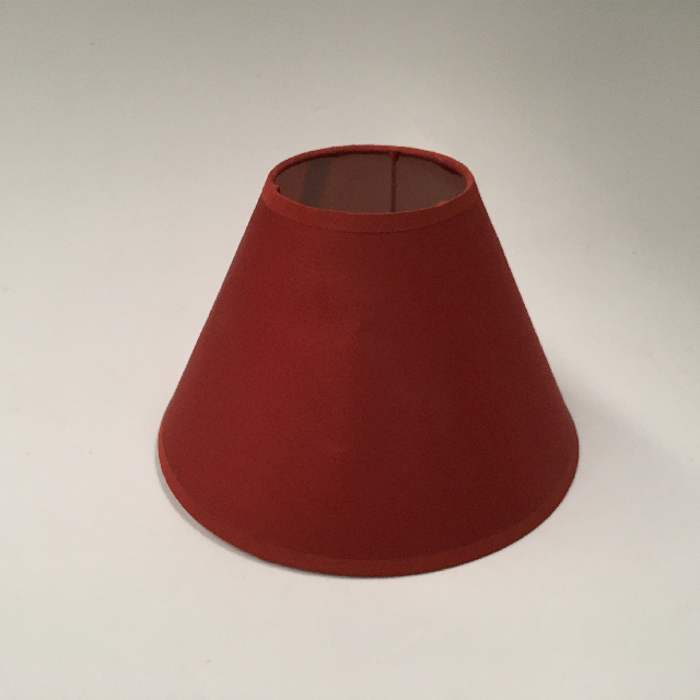 LAM0983 LAMPSHADE, Cone (Small) - Rust Red Silk $6.25