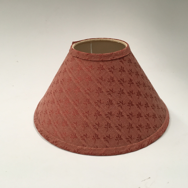 LAM0984 LAMPSHADE, Cone (Small) - Terracotta Brown Pattern $7.50