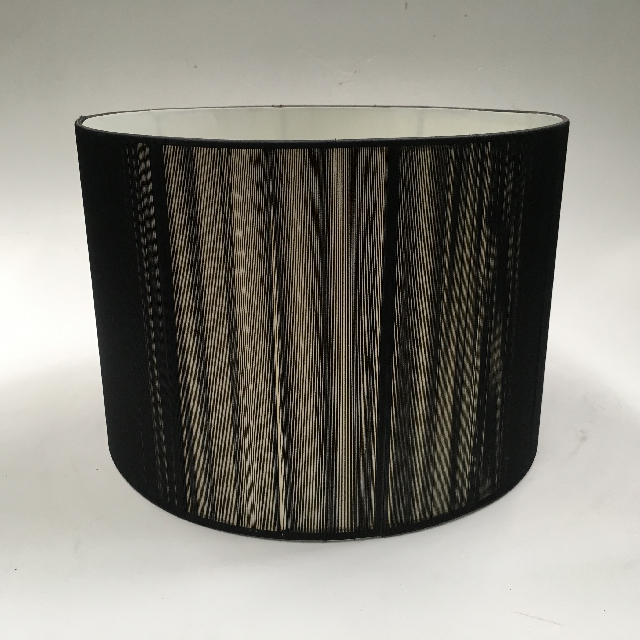 LAM0986 LAMPSHADE, Contemp (Large) - Black String $18.75