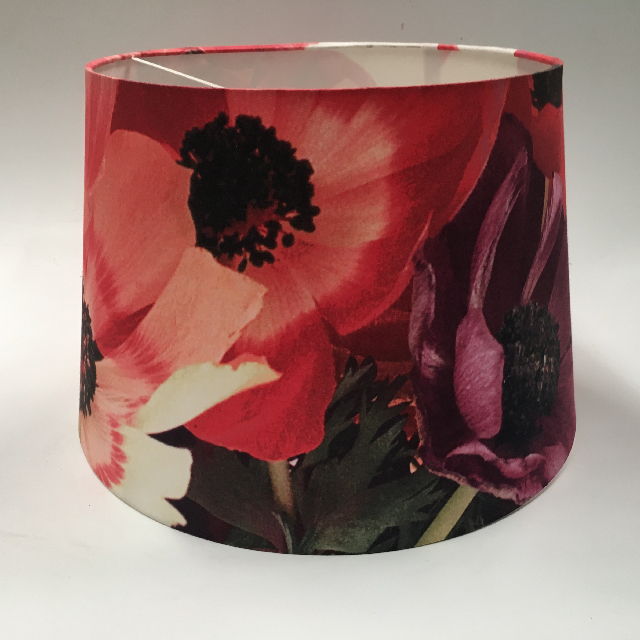 LAM0992 LAMPSHADE, Contemp (Large) - Red Purple Floral  Print $15