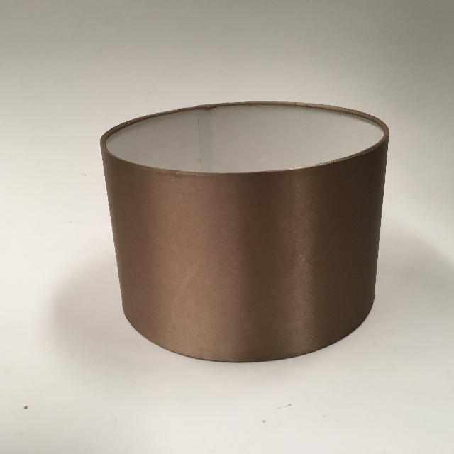 LAM1106 LAMPSHADE, Contemp (Small) - Drum, Beige Brown Silk $7.50