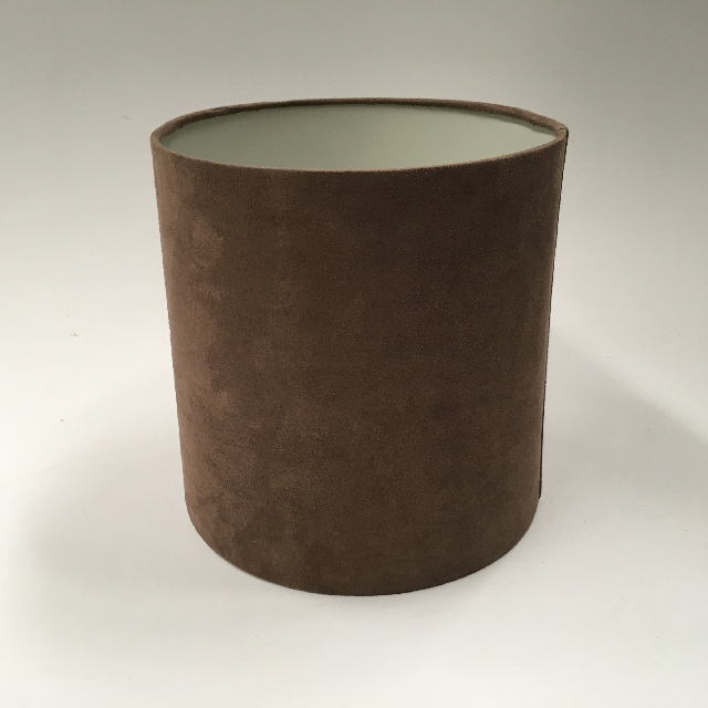 LAM1109 LAMPSHADE, Contemp (Small) - Drum, Brown Suede $7.50