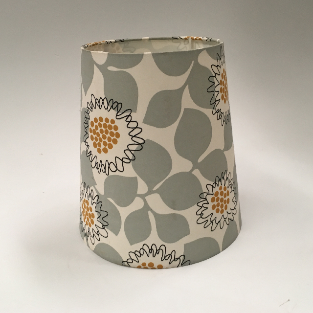 LAM1116 LAMPSHADE, Contemp (Small) - Grey Ochre Floral $7.50