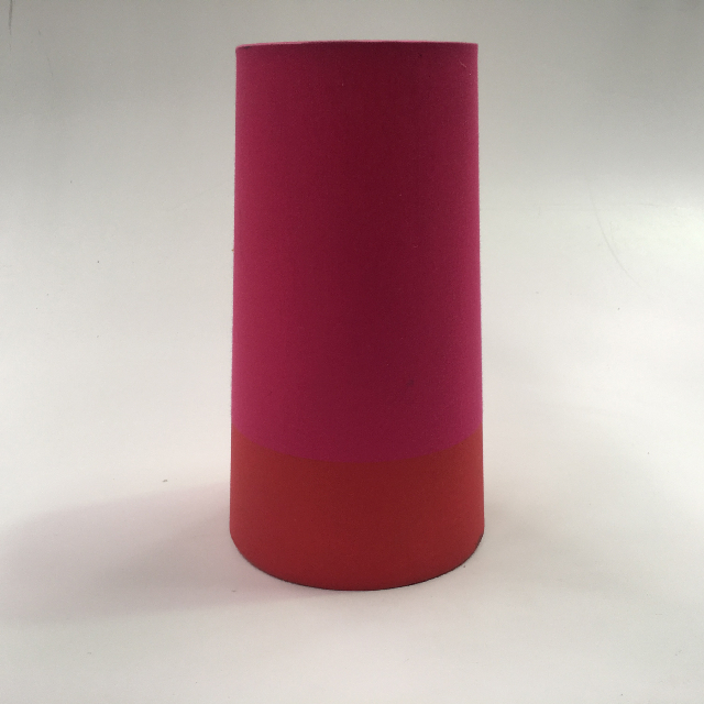 LAM1119 LAMPSHADE, Contemp (Small) - Pink Red Stripe 30cmH $6.25