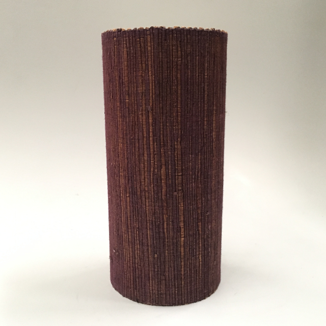LAM1126 LAMPSHADE, Cylinder, Brown Weave 30cmH $6.25