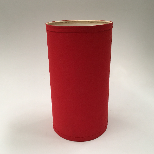 LAM1129 LAMPSHADE, Cylinder, Red 30cm H $6.25
