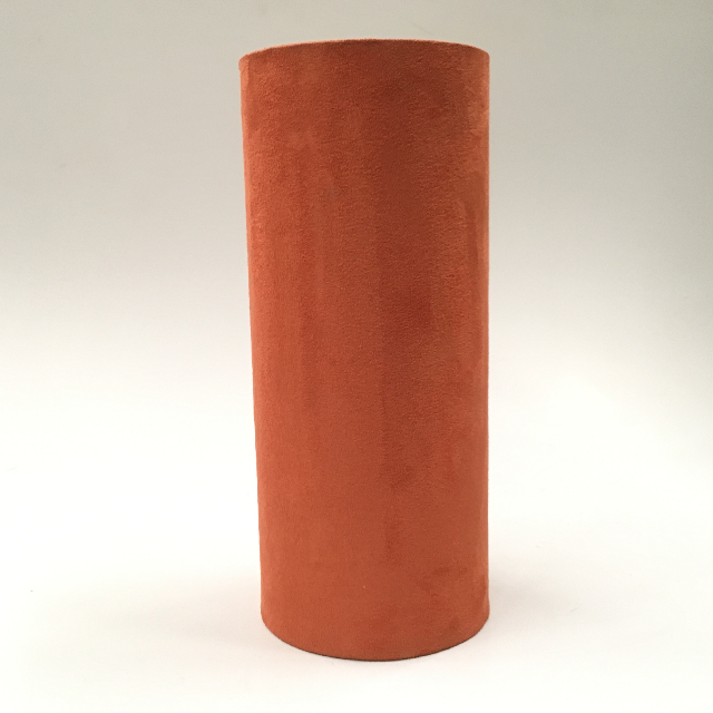 LAM1130 LAMPSHADE, Cylinder, Rust Suede 30cmH $6.25