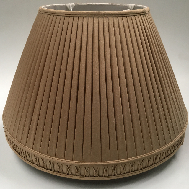 LAM0109 LAMPSHADE, Empire Style (Large) - Beige Gold Pleat $22.50