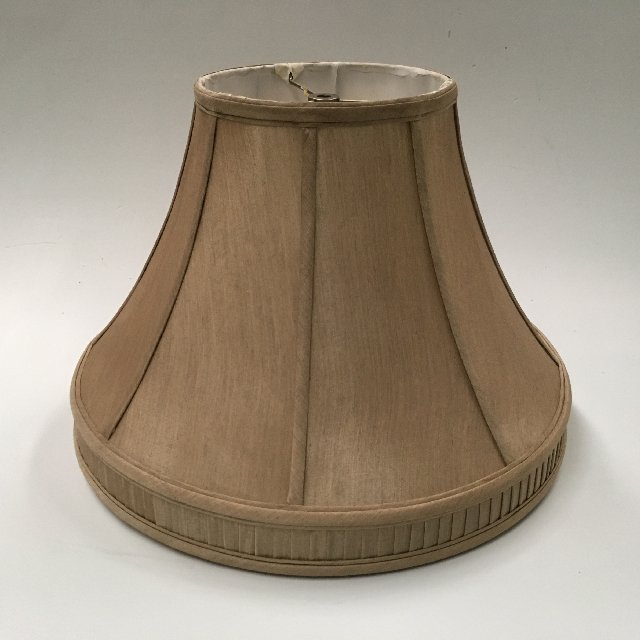 LAM0117 LAMPSHADE, Empire Style (Medium) - Gold Brown w Pleat Detail 46cm Base D x 33cm H $18.75