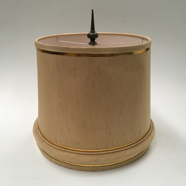 LAM1134 LAMPSHADE, Empire Style (Medium) - Natural Beige w Finial $15