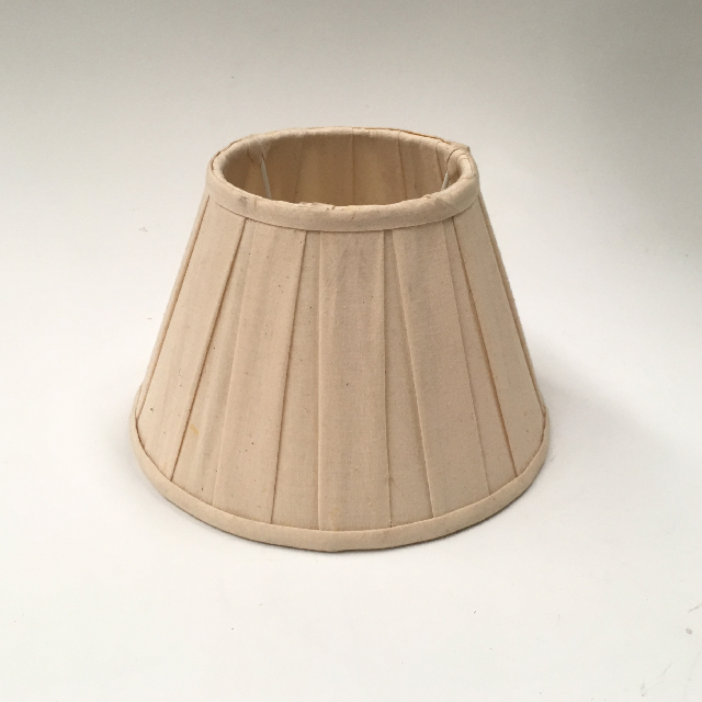 LAM1139 LAMPSHADE, Empire Style (Small) - Natural Calico Pleated Cone $7.50