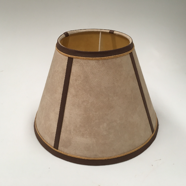 LAM1144 LAMPSHADE, Empire Style (Small) - Parchment w Brown Trim $7.50
