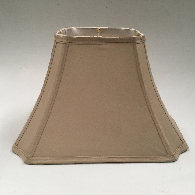 LAM1146 LAMPSHADE, Empire Style Square (Large) - Beige Silk $15