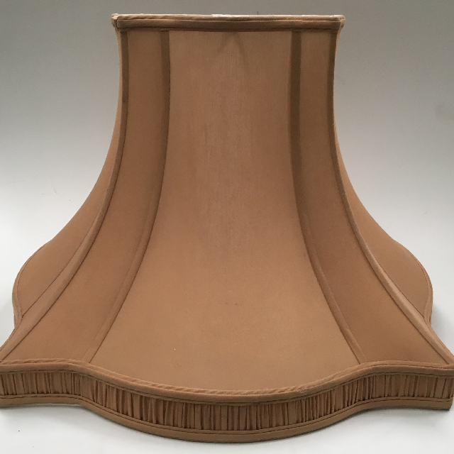 LAM0118 LAMPSHADE, Empire Style Square (Large) - Gold Brown w Pleat Detail 57cm Base D x 40cm H $22.50
