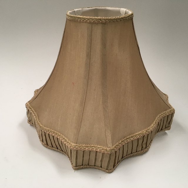 LAM1151 LAMPSHADE, Empire Style Square (Medium) - Gold Square w Pleated Detail $18.75