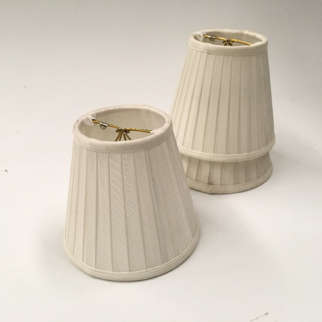 LAM1157 LAMPSHADE, Ex Small (Clip On) Cream Pleated $5