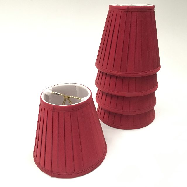 LAM1162 LAMPSHADE, Ex Small (Clip On) - Dark Red Pleated $5