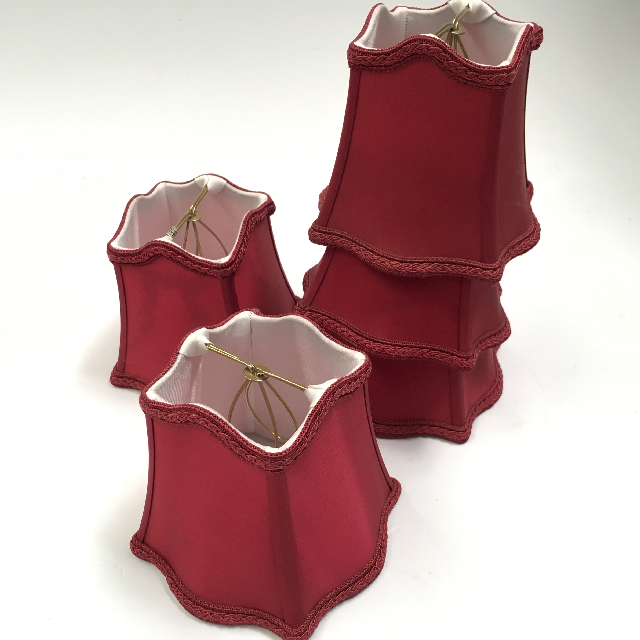 LAM1164 LAMPSHADE, Ex Small (Clip On) - Maroon Empire Style $5