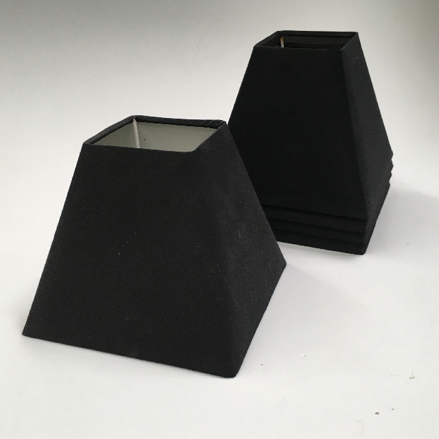 LAM1154 LAMPSHADE, Ex Small - Black Square Tapered $5
