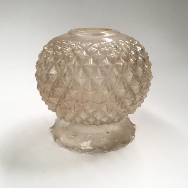 LAM1170 LAMPSHADE, Glass Ball Shade - Clear Patterned $7.50