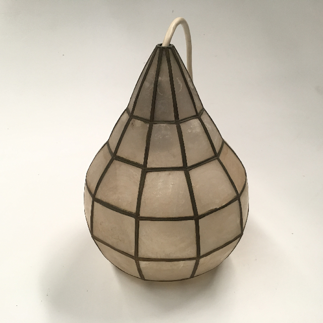 LAM1177 LAMPSHADE, Hanging Light - 1970s Mother of Pearl (Small Teardrop) $12.50