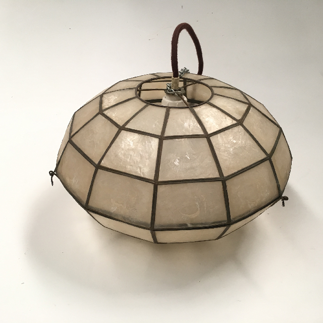 LAM1178 LAMPSHADE, Hanging Light - 1970s Mother of Pearl (Small UFO) $12.50