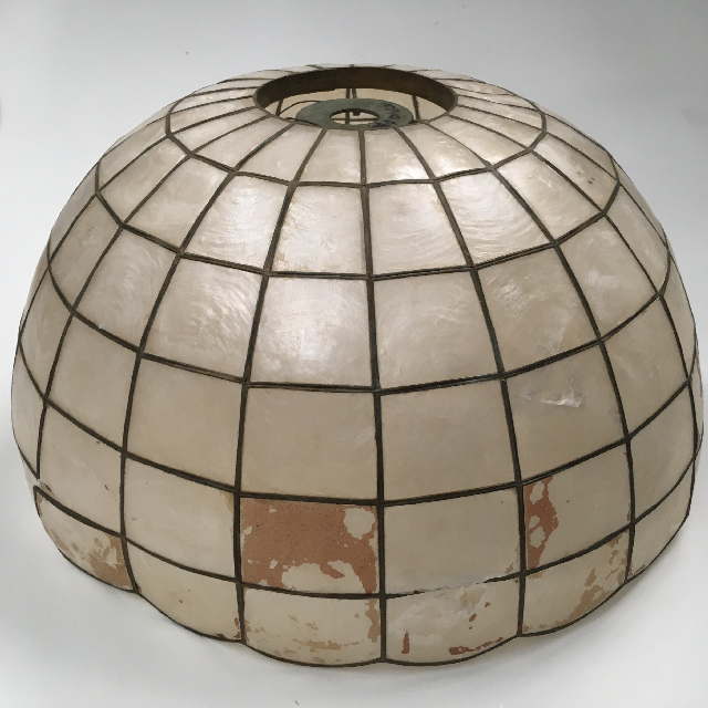 LAM1173 LAMPSHADE, Hanging Light - 1970s Mother of Pearl (large) $18.75