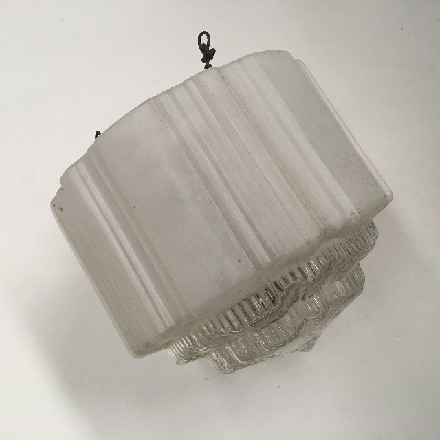 LAM1194 LAMPSHADE, Hanging Light - White Glass Deco  $15