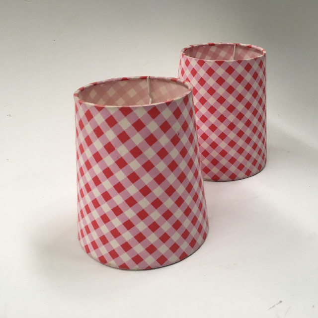 LAM1205 LAMPSHADE, Small Pink White Check $5