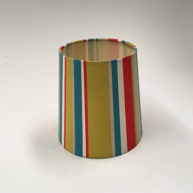 LAM1206 LAMPSHADE, Small Red Blue Green White Stripe $5
