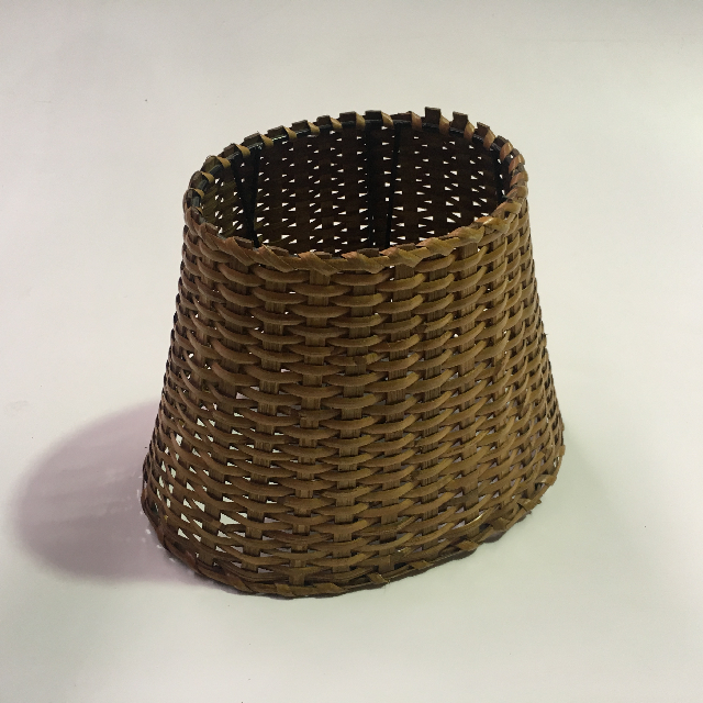 LAM1210 LAMPSHADE, Small Wicker Tapered Oval $7.50
