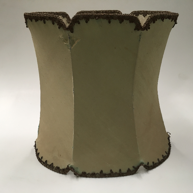 LAM1214 LAMPSHADE, Victorian (Large) - Pale Blue Green w Antique Gold Trim $18.75