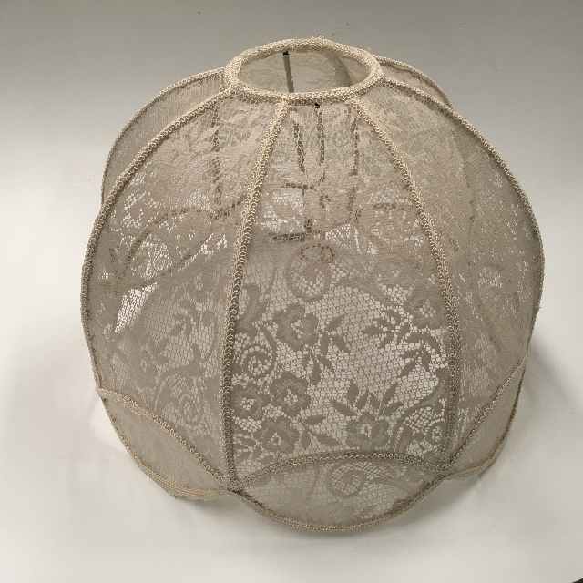 LAM1215 LAMPSHADE, Victorian (Large) - White Lace $18.75