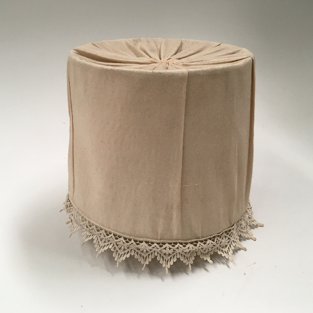 LAM1222 LAMPSHADE, Victorian (Small) - Natural Cotton and Lace $15