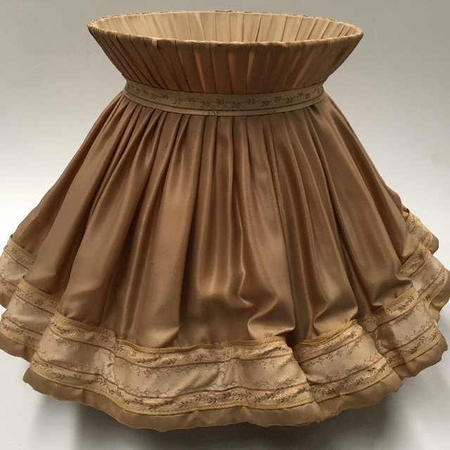 LAM1223 LAMPSHADE, Victorian Ruffle (Large) - Beige Gold $30