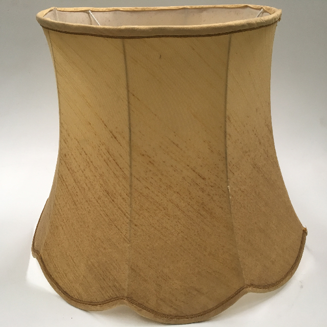 LAM1227 LAMPSHADE, Vintage (Large) - Gold Raw Silk $18.75