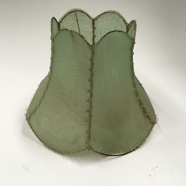 LAM1245 LAMPSHADE, Vintage (Small) - Green Vellum $12.50